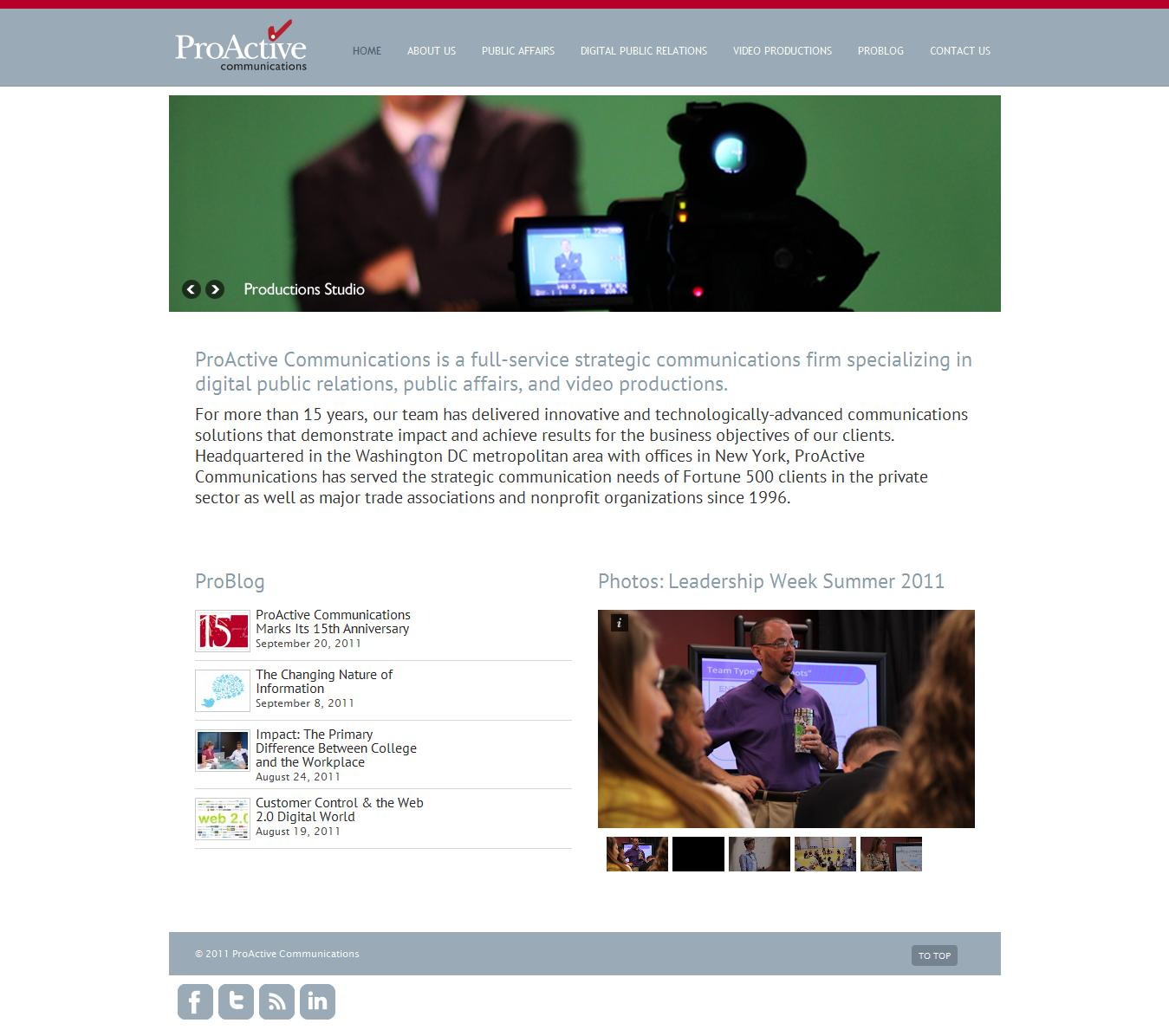 Web Design for Communications Firm