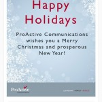 Holiday Email Campaign for Communications Firm