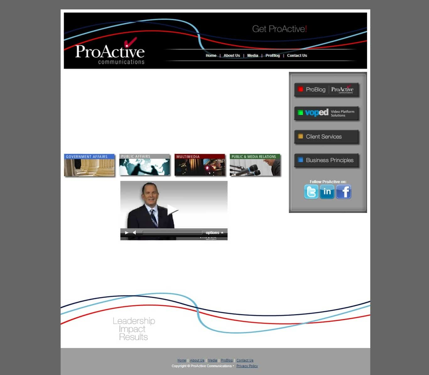 Communications Firm Original Website