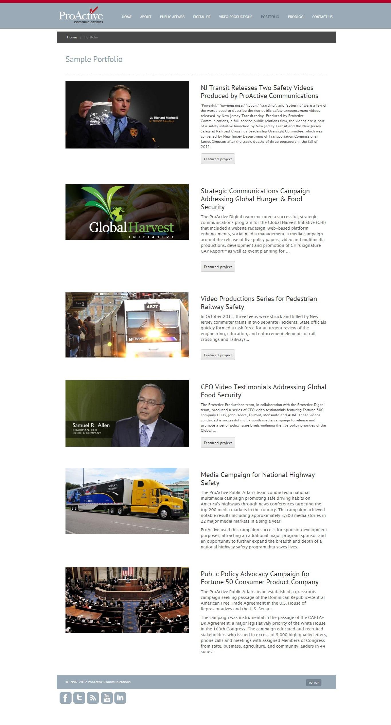 Communications Firm Website (2013) - Portfolio