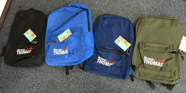 Mayoral Campaign Bookbags