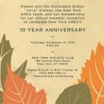 Invitation Design for Energy Organization's 10th Anniversary Reception
