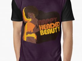 """Nappy Headed Beauty"" Men's Graphic T-Shirt"