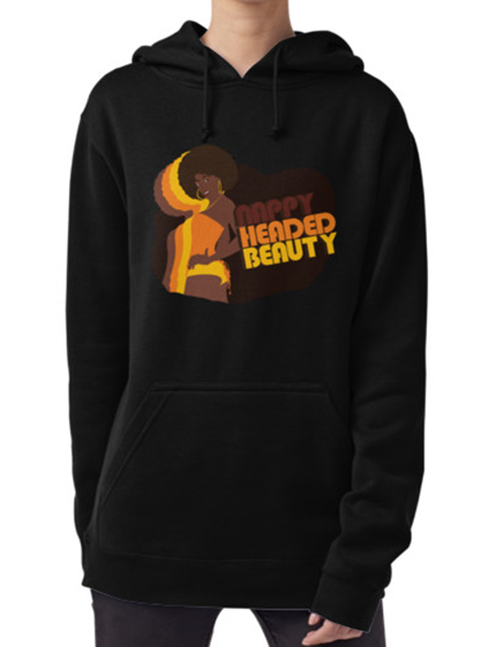Nappy Headed Beauty - Hoodie (Pullover), Black