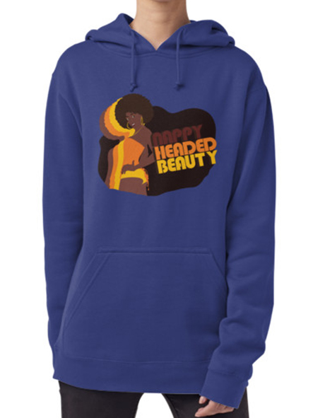 Nappy Headed Beauty - Hoodie (Pullover), Blue