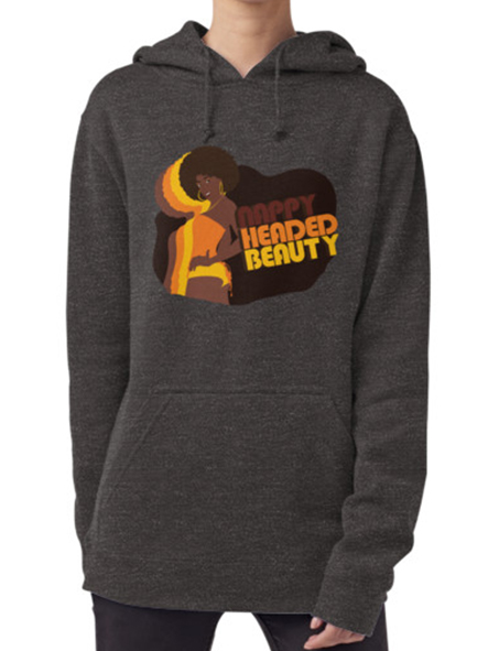 Nappy Headed Beauty - Hoodie (Pullover), Charcoal Grey