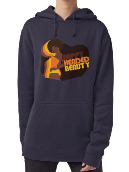 Nappy Headed Beauty - Hoodie (Pullover), Dark Blue
