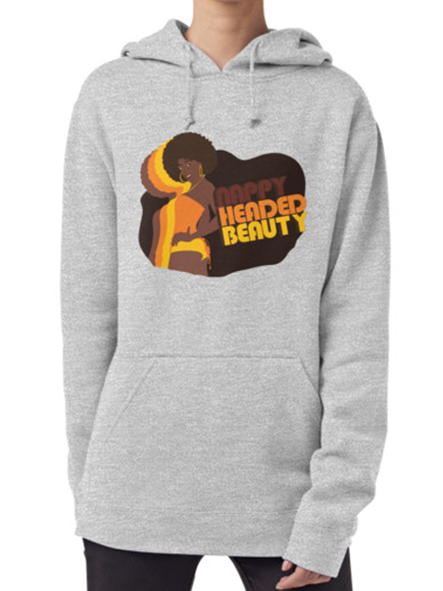Nappy Headed Beauty - Hoodie (Pullover), Heather Grey