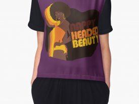 """""""Nappy Headed Beauty"""" Women's Chiffon Top"""