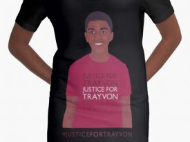 """Justice For Trayvon"" Graphic T-Shirt Dress"