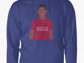 """Justice For Trayvon"" Pullover Hoodies"