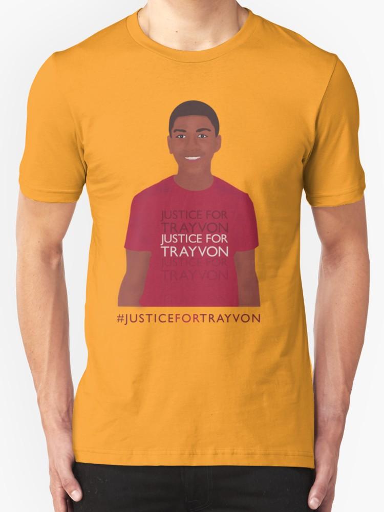 Justice for Trayvon - Unisex T-Shirt, Goldjpg