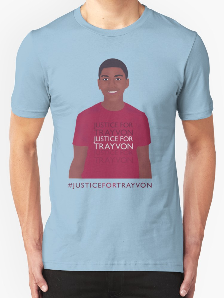 Justice for Trayvon - Unisex T-Shirt, Light Blue