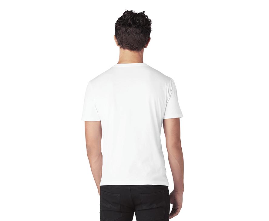 Men's Graphic T-Shirt - Back (White)