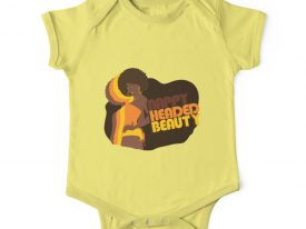 """Nappy Headed Beauty"" Baby Onesie (Short Sleeve)"