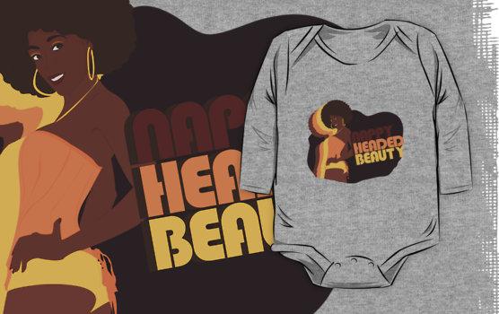 Nappy Headed Beauty - Baby Onesie (Long Sleeve), Heather Grey