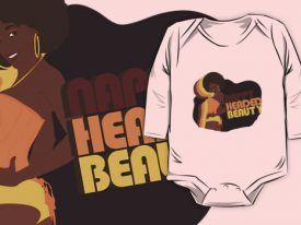 """Nappy Headed Beauty"" Baby Onesie (Long Sleeve)"