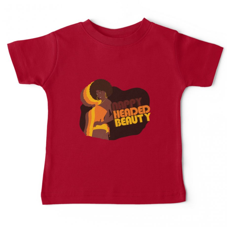 Nappy Headed Beauty - Baby T-Shirt, Red