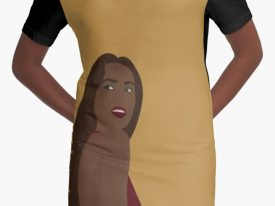 """Pure Elegance"" Graphic T-Shirt Dress"