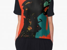 """tears keep rolling down…"" Women's Chiffon Top"