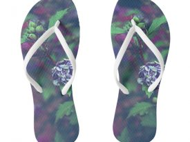 """In My Father's Garden II"" Flip Flops (Slim Strap)"