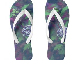 """In My Father's Garden II"" Flip Flops (Wide Strap)"