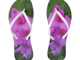 """In My Father's Garden IV"" Flip Flops (Slim Strap)"