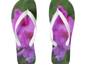 """In My Father's Garden IV"" Flip Flops (Wide Strap)"