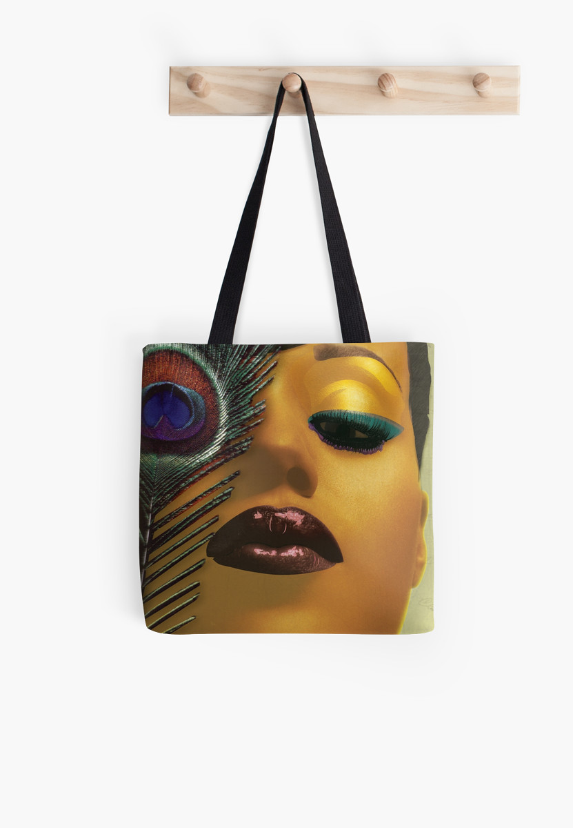 Photo of the Kerry Washington Tote Bag hanging on a wall