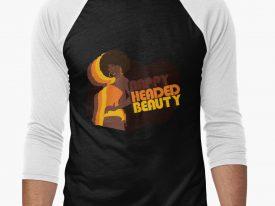 """""""Nappy Headed Beauty"""" Men's Baseball ¾ T-Shirt"""