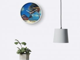 """Cancún"" Bamboo-Frame Clocks"