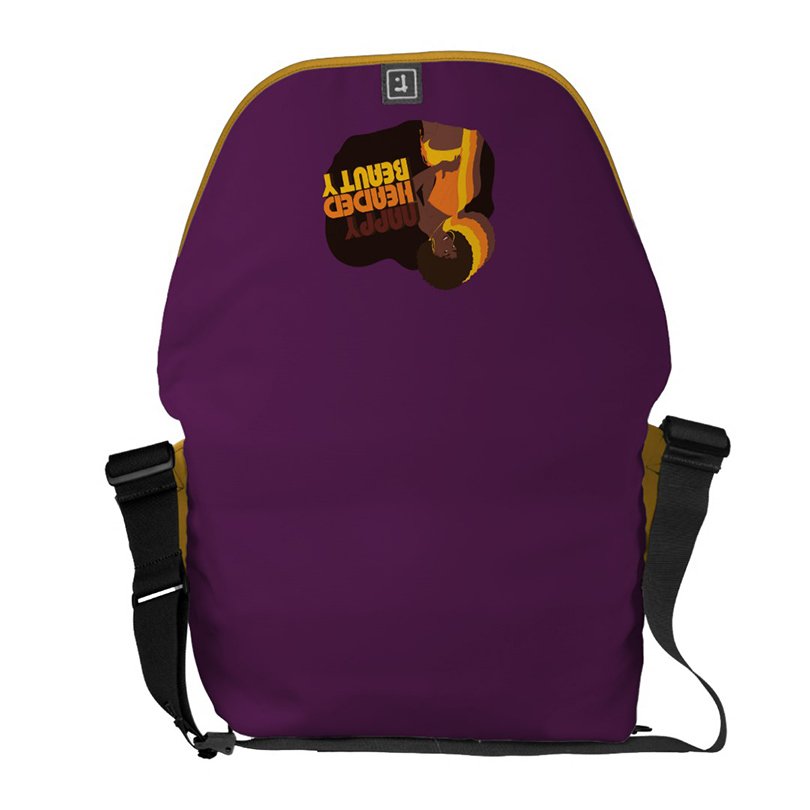 Nappy Headed Beauty - Large Messenger Bag (Open, Back)