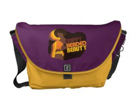 """Nappy Headed Beauty"" Large Messenger Bag"