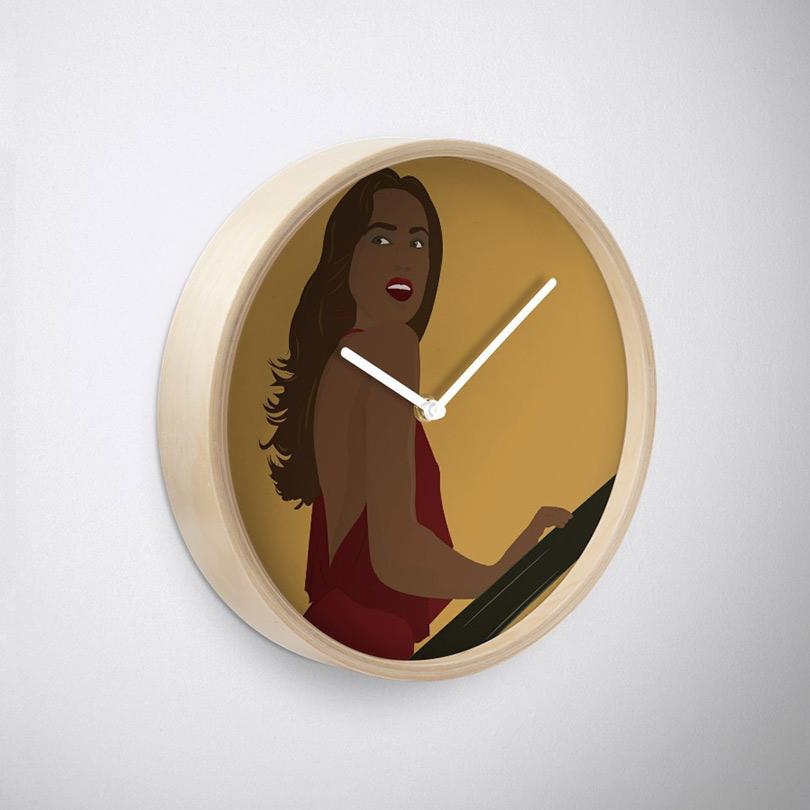 Pure Elegance - Clock (Bamboo,Side)