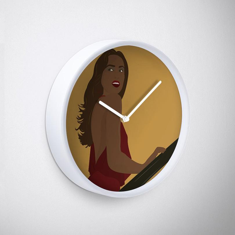Pure Elegance - Clock (White,Side)