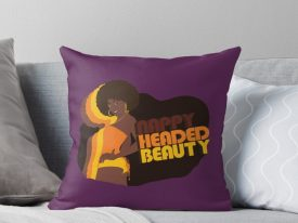 """Nappy Headed Beauty"" Throw Pillows"