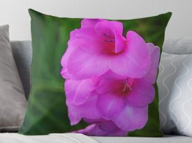 """In My Father's Garden IV"" Throw Pillows"