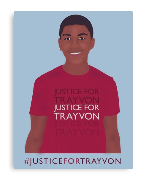 """Justice for Trayvon"" Canvas Print"