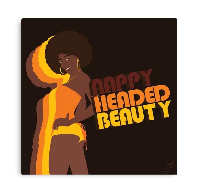 """""""Nappy Headed Beauty"""" Canvas Print"""
