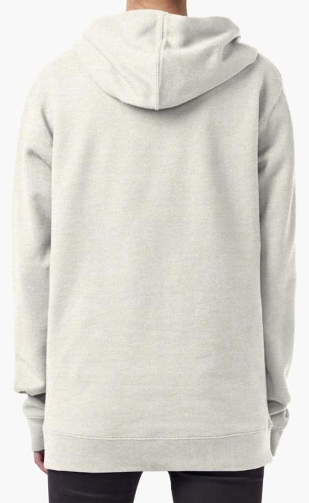 Pure Elegance - Pullover Hoodie, (Oatmeal) - Back