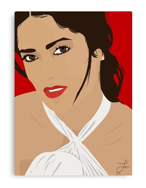 Salma Hayek Canvas Print